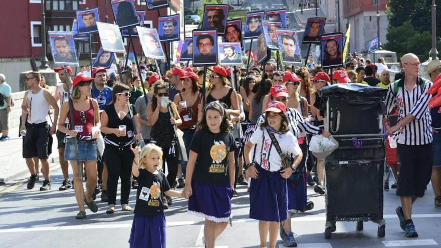 Manifestación en favor de los presos de ETA