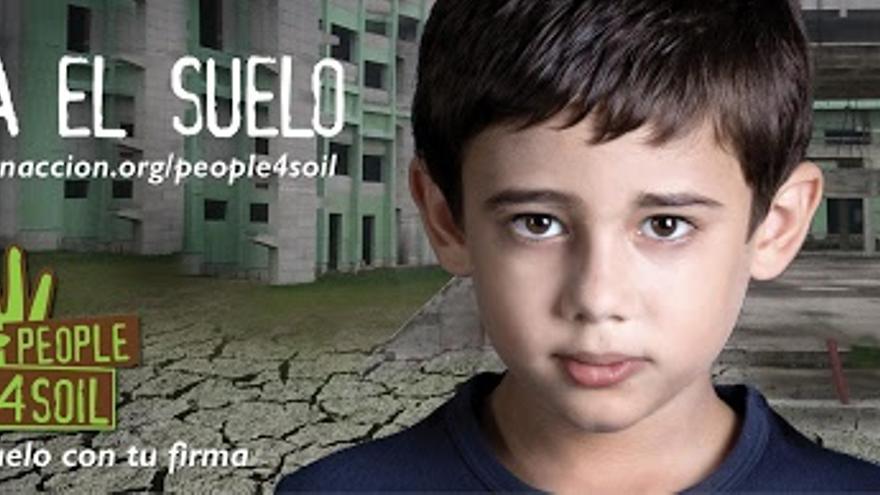 Cartel de la campaña 'Salva el suelo'.