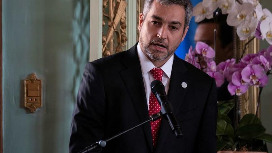 En la imagen, el presidente de Paraguay, Mario Abdo Benítez.