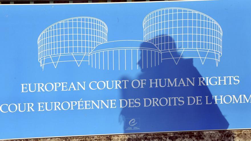Cartel del Tribunal Europeo de Derechos Humanos