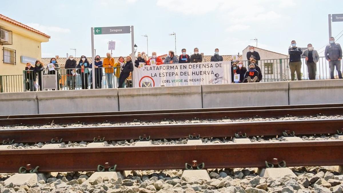 """Movilización """"Aragón no pierdas tu tren"""""""