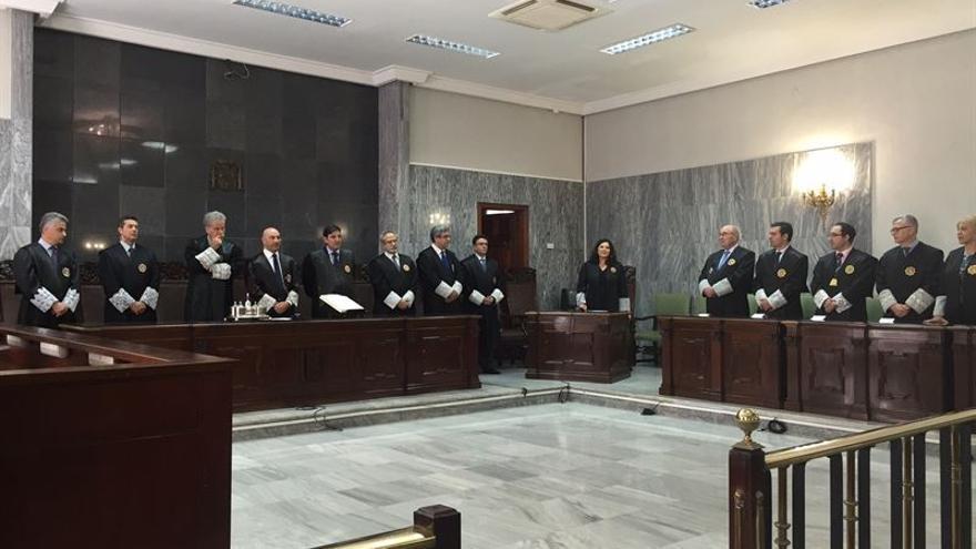 Acto de toma de posesión de la nueva Sala de Gobierno del Tribunal Superior de Justicia de Canarias. (EUROPA PRESS)
