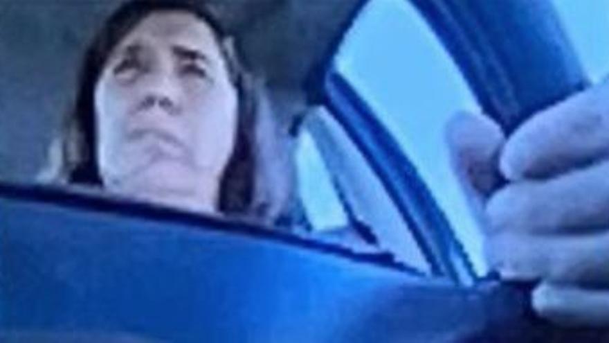 Una consejera del Cabildo de Tenerife conduce mientras participa en una reunión por videoconferencia