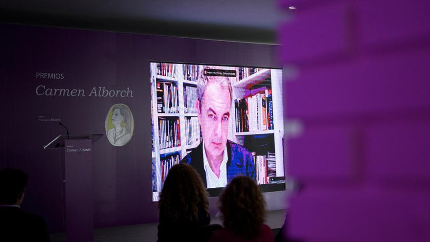 Zapatero: El camino a una sociedad más perfecta es el inspirado en feminismo