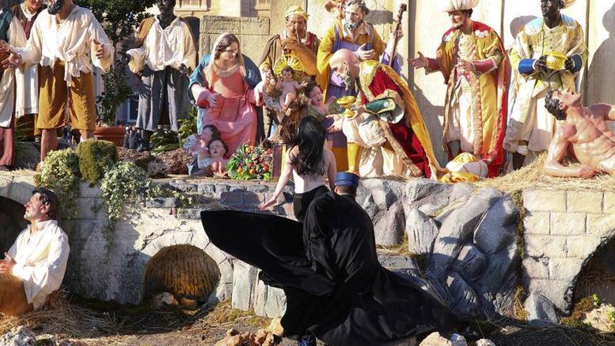 Imagen de la acción de Femen en el Vaticano. Foto: Femen