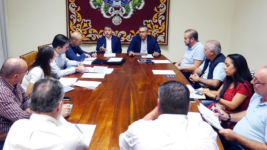 Reunión de la Mesa del Taxi de Santa Cruz, este miércoles en la sede del Ayuntamiento