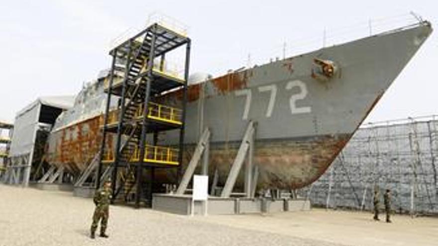 El buque surcoreano hundido Cheonan