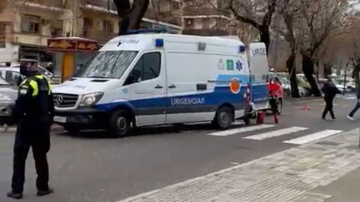 Imagen de la carretera de Trassierra donde se ha producido el accidente.