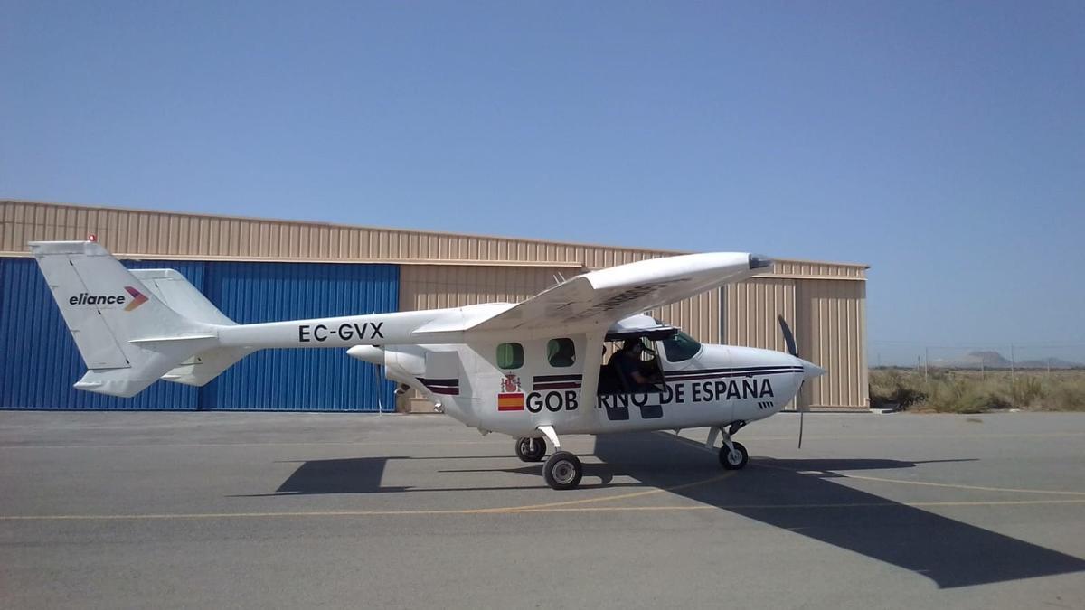 Avión de coordinación y observación (ACO) para la monitorización y el seguimiento de la actividad volcánica en  La Palma.