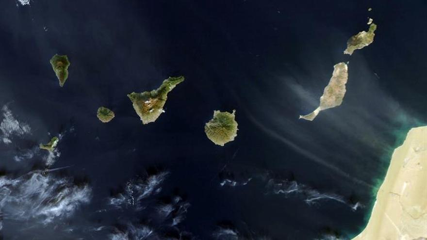 Avance de la calima captado por el satélite Aqua de la NASA