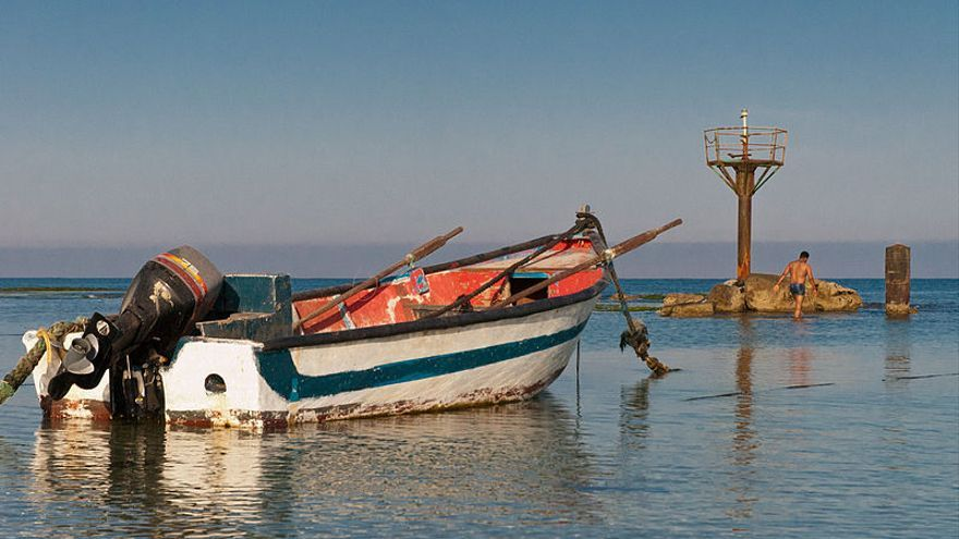 Yisr a-Zarqa, el único pueblo árabe en el Mediterráneo que no fue expulsado por Israel. Imagen: Wikimedia commons.