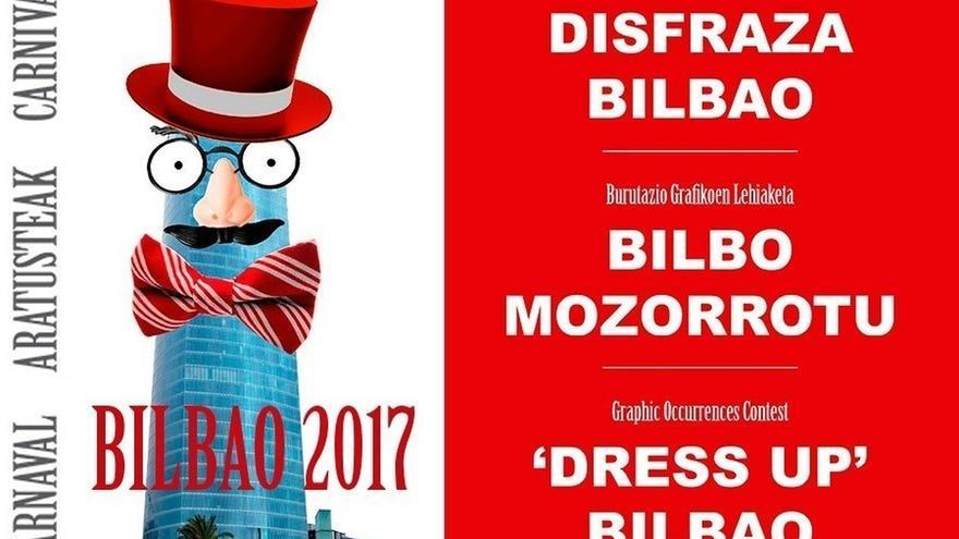 """El certamen de ocurrencias gráficas """"Disfraza Bilbao"""" duplica la participación en su quinta edición"""