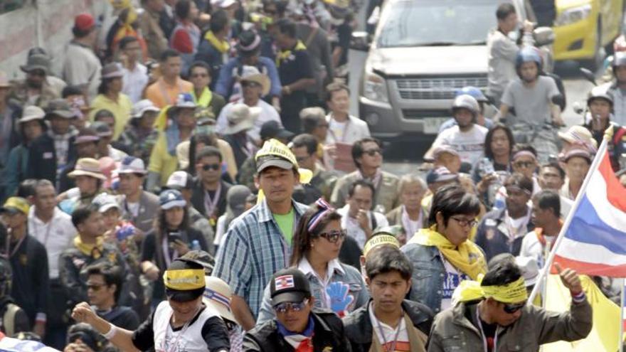 Marchas en Bangkok para exigir la cancelación de las elecciones generales