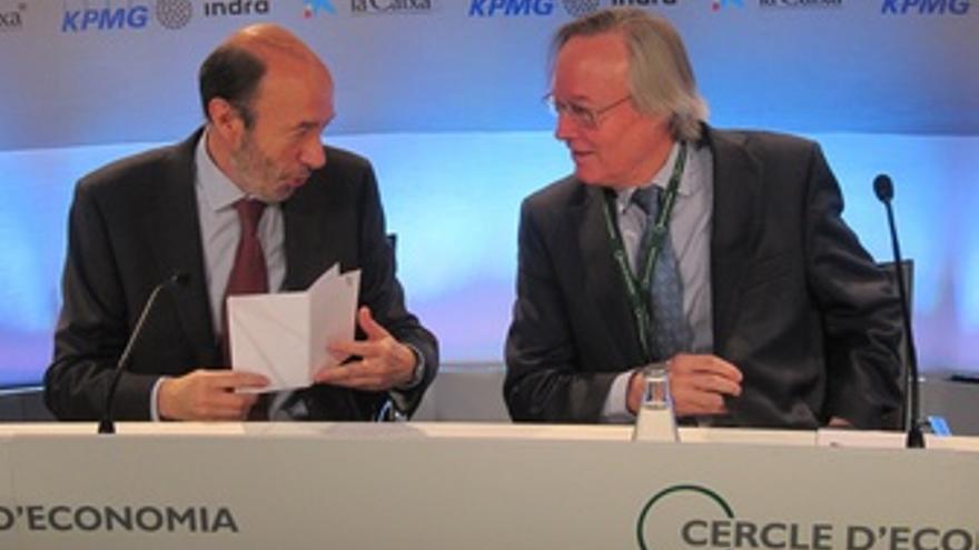 Alfredo Pérez Rubalcaba (PSOE) Y Josep Piqué