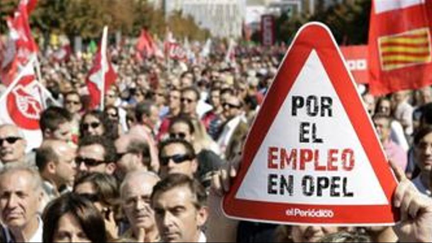 Manifestación trabajadores Opel