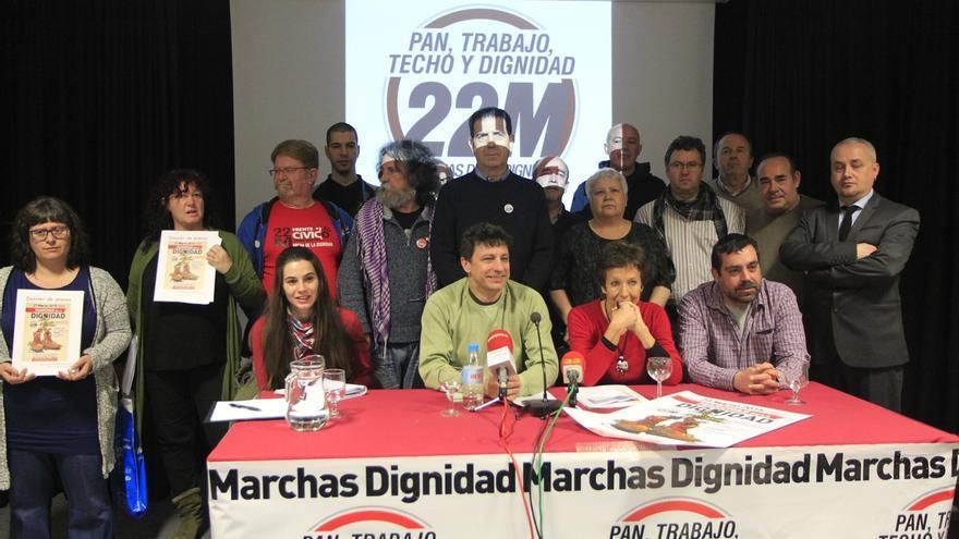 Cayo Lara quiere que Rajoy se pronuncie en el Congreso sobre las Marchas de la Dignidad de mañana