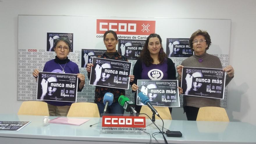 Comisión 8 de Marzo anima a secundar el 25N la manifestación contra la violencia de género en Santander