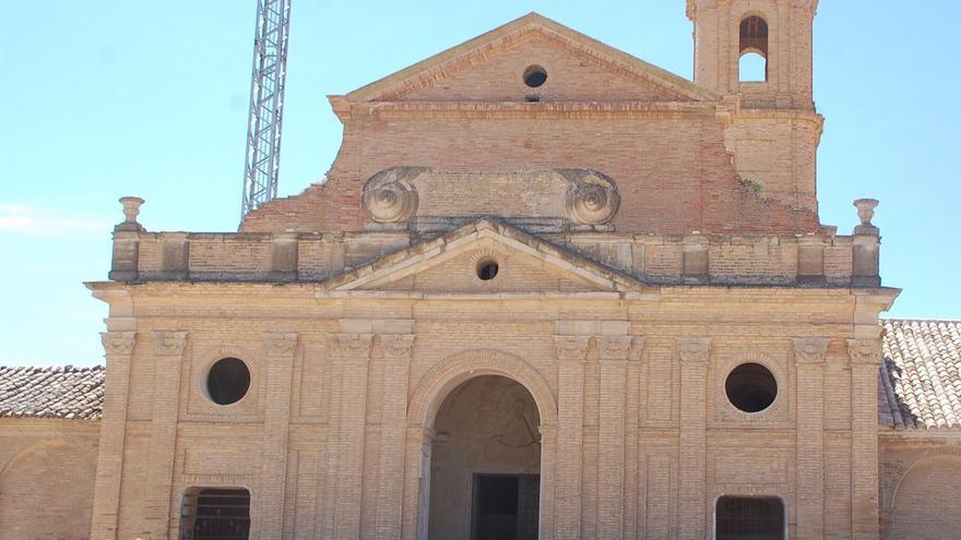 Reapertura, el pasado domingo, de la ermita de la Virgen de Salas de Ayerbe.