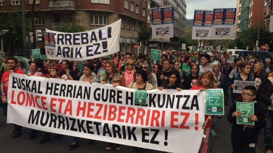Protesta contra la Lomce. Foto: ELA