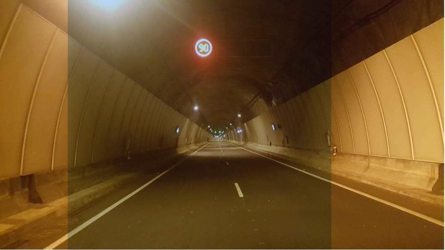 Interior del túnel nuevo de La Cumbre.