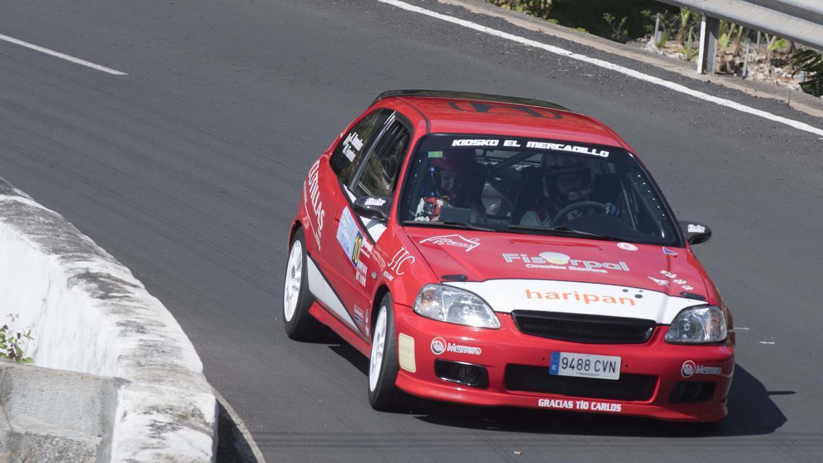 El Honda Civic de la pareja Kevin Remedios-Marta Fuentes.