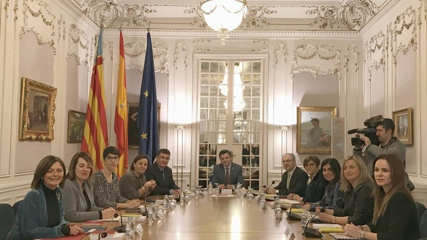 Plenario de la Coprepa en les Corts valencianes