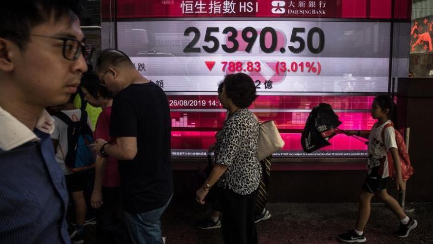 La Bolsa de Hong Kong cierra plana tras una semana a la baja por protestas