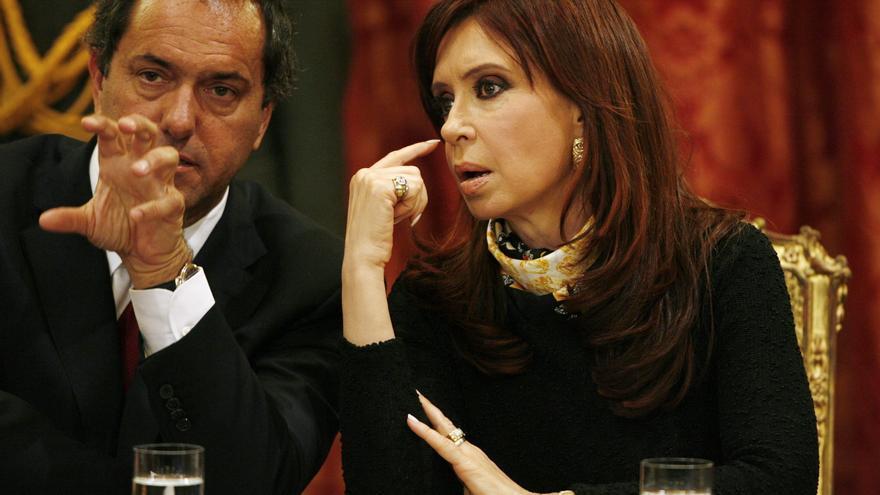 Daniel Scioli y Cristina Kirchner en un acto oficial. /ARCHIVO EFE