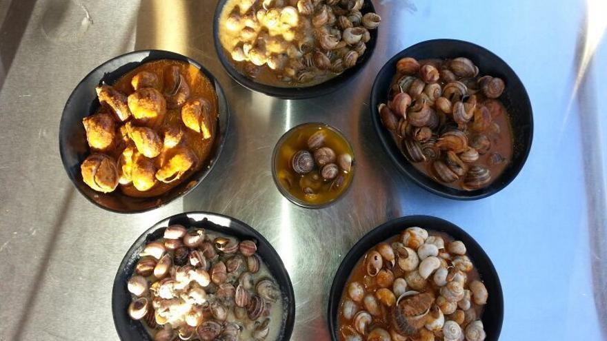 Distintas recetas de caracoles guisados de Córdoba. (Foto. Caracoles Noreña)