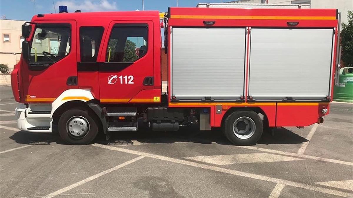 Un vehículo de bomberos del Consorcio provincial.