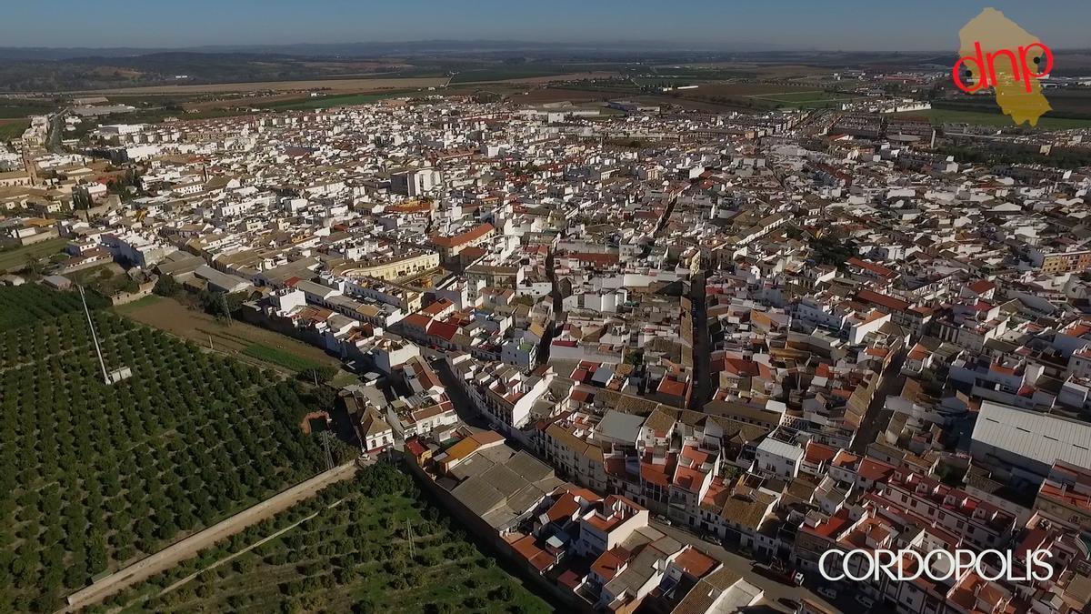 Imagen aérea de Palma del Río.