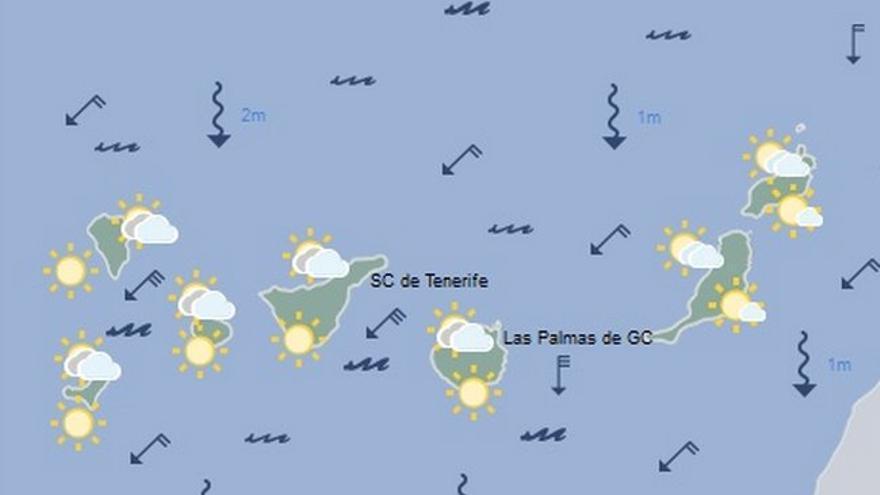 Mapa meteorológico del martes 2 de agosto