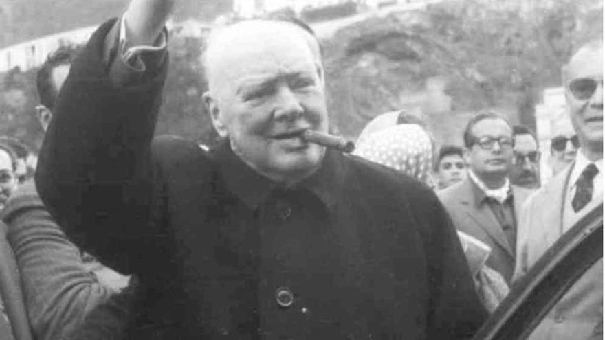 Una imagen de Churchill en su visita a La Palma.