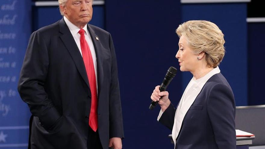 Donald Trump y Hillary Clinton, en uno de los debate durante la campaña electoral.