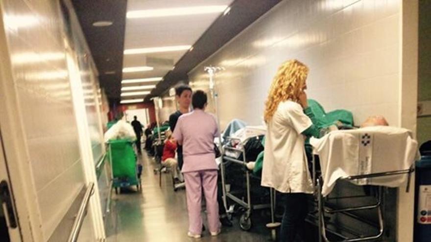 Pacientes en el Negrín