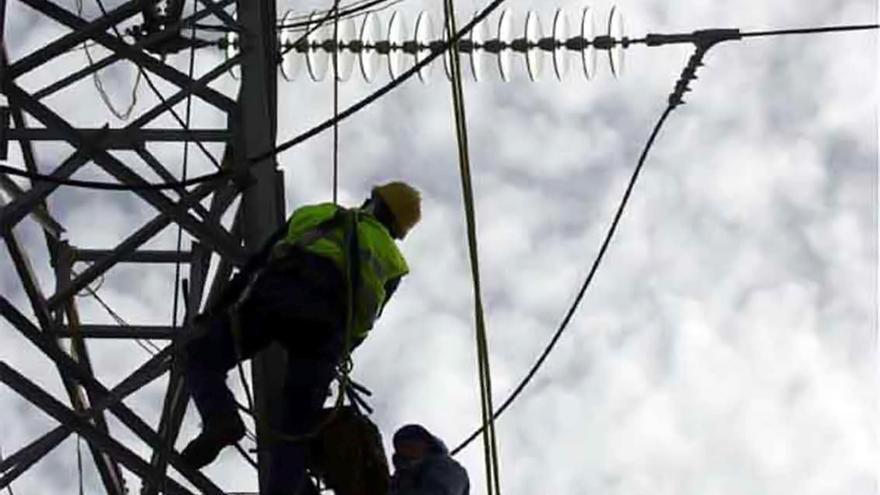 Trabajos en la red eléctrica