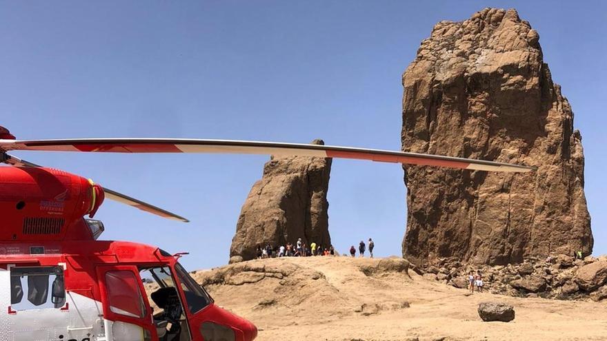Una senderista resulta herida al sufrir una caída en el Roque Nublo