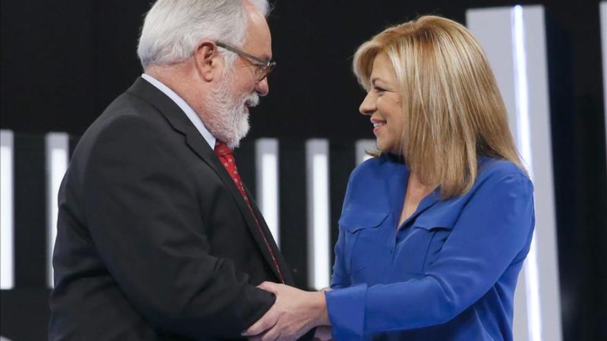 Cañete culpa al PSOE de la herencia económica y Valenciano niega la recuperación