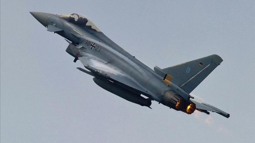 Un Eurofighter, en una imagen de archivo