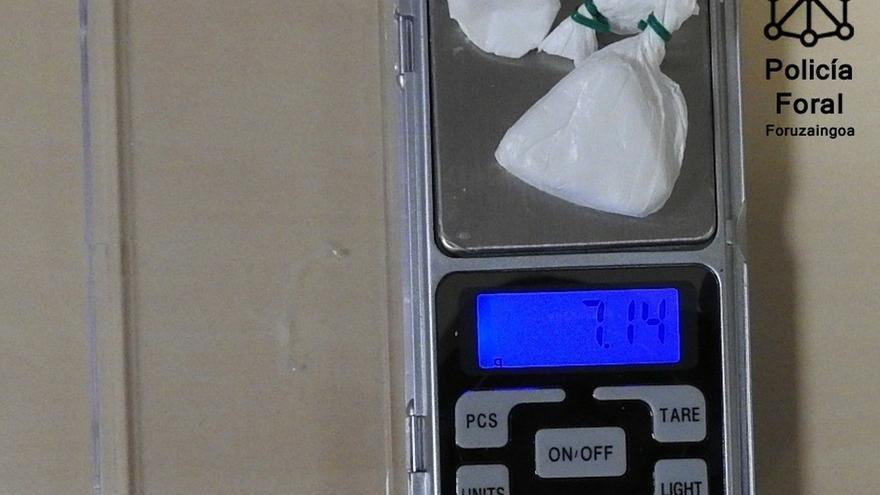 Detenido en Orkoien como autor de un presunto delito de tráfico de drogas