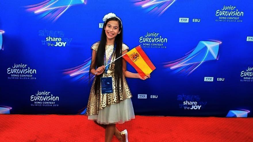 Melani en el sorteo de Eurovisión Junior en Polonia