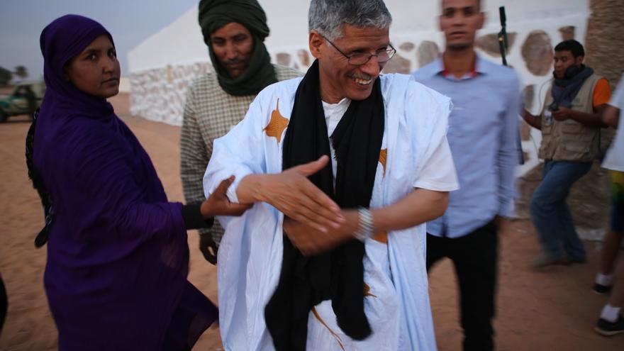 El primer ministro del Frente Polisario, Abdel Gader Taleb Omar / Foto: Bru Rovira
