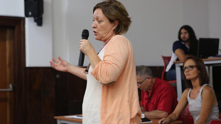 La secretaria de organización de Podemos en Canarias, Conchi Moreno (Alejandro Ramos)