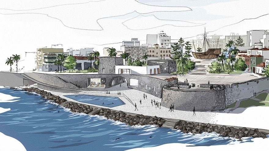 Dibujo de la propuesta 'Bajada al mar) de Santiago Hernández Betancor