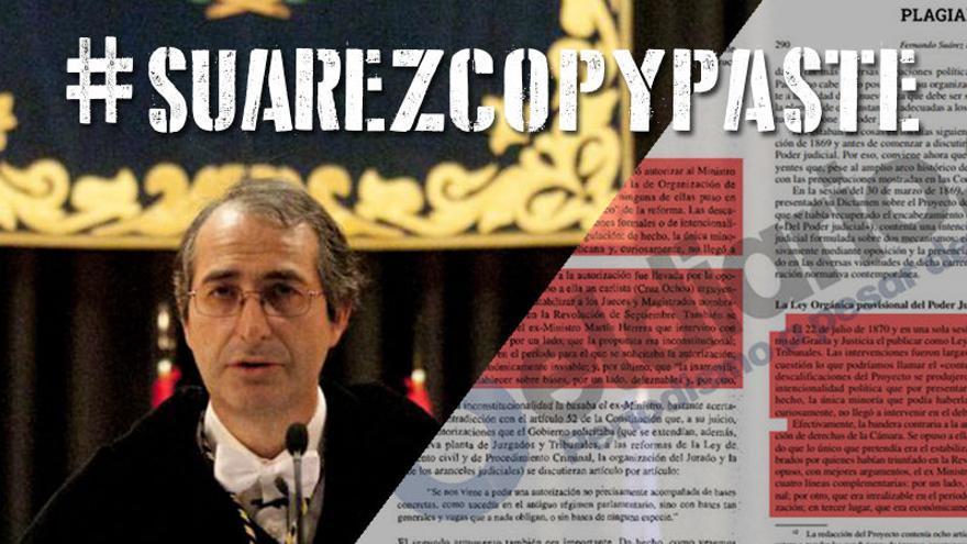 Foto que encabeza la recogida de firmas contra el rector por sus plagios.