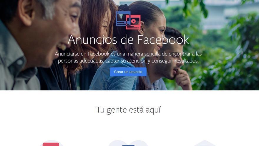 Facebook Ads, la plataforma de anuncios de la red social.