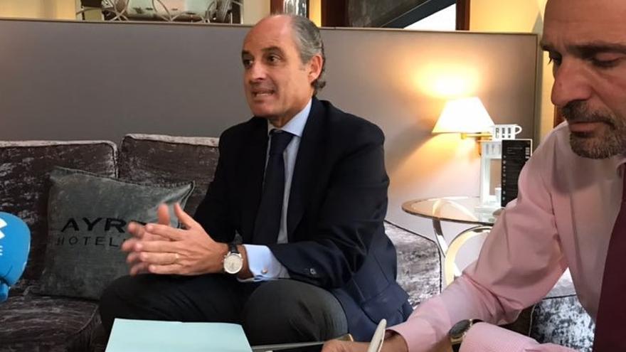 El expresident de la Generalitat, Francisco Camps, en rueda de prensa