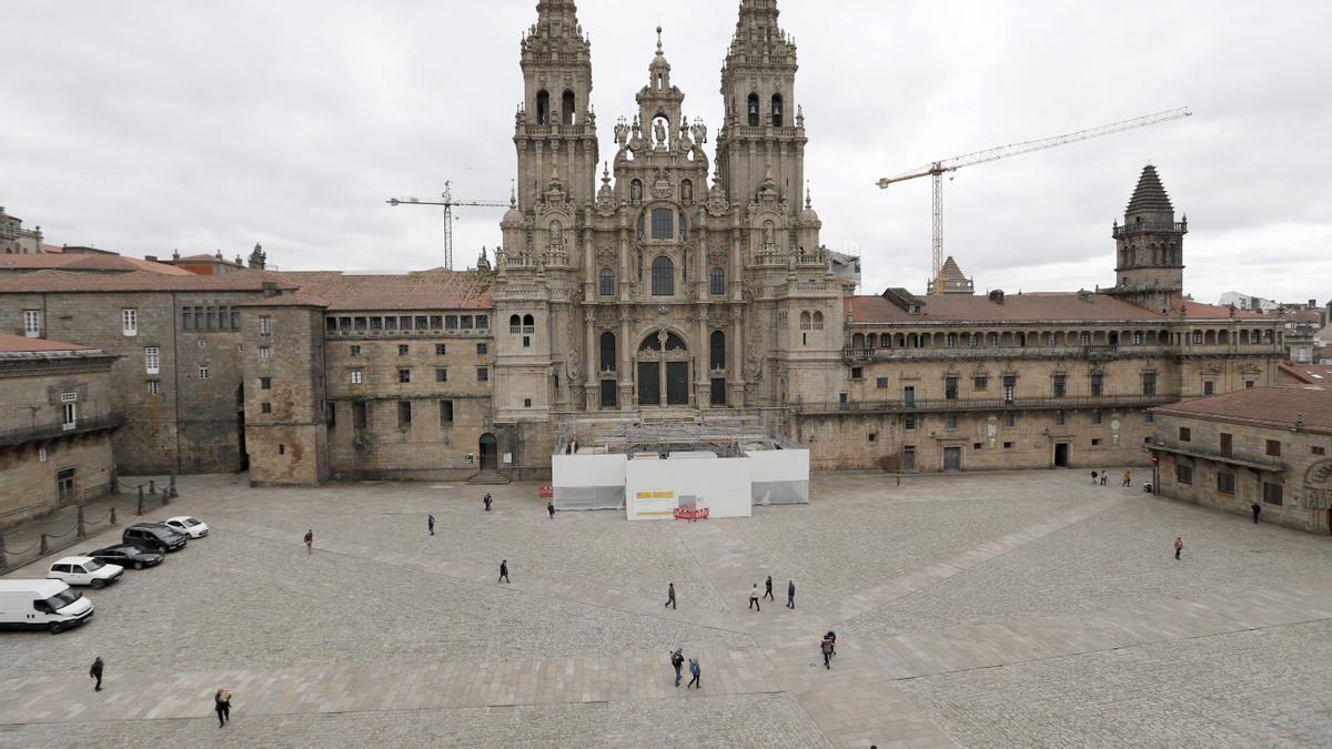 La plaza del Obradoiro con la catedral de Santiago de Compostela.