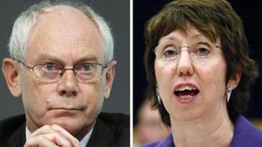 La UE elige como imagen a dos políticos de bajo perfil, el belga Van Rompuy y la británica Ashton