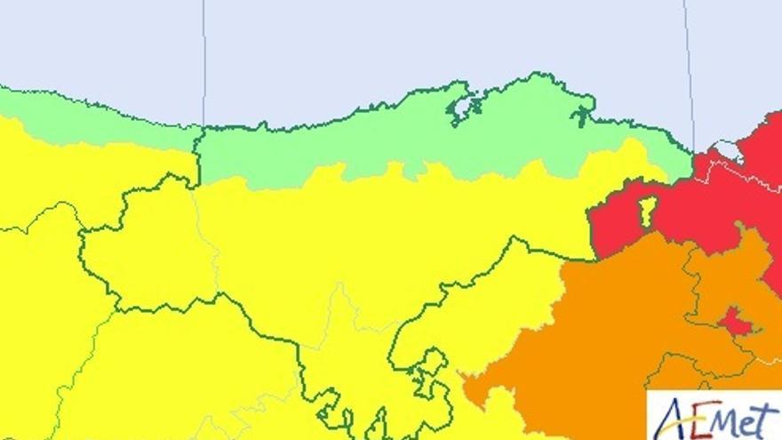 Cantabria estará este martes en riesgo por altas temperaturas y tormentas